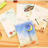 South Korea Stationery Minimalist Stitching Thick Notebook Notepad 16Kb5 Present Time Flow Book Carts