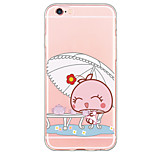 Cute Bunny Pattern TPU Ultra-thin Translucent Soft Back Cover for Apple iPhone 6s Plus/6 Plus/ 6s/6/ SE/5s/5