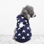 Katzen / Hunde Kostüme / Mäntel / Pullover / Kapuzenshirts Rot / Blau Hundekleidung Winter Klassisch / Sterne / Weihnachten / Halloween