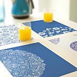 Plastic PVC Mat Continental Western Cuisine Mat Non-slip Waterproof Table Mats (Random Color)