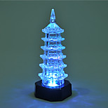Creative Color-Changing Acrylic Romantic Pagoda Sweet Couple Night Light Christmas Light Home Decoration