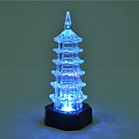 kreativ farve skiftende akryl romantisk pagode sød par natlys christmas lys boligmontering