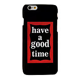 Letter Quality Feel Slick Surface PC Material Phone Case for iPhone 6 6S 6 Plus 6S Plus
