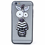 PC+TPU Material Zebra Frosted Relief Bracket Phone Case for iPhone 6s/6/6s Plus/6 Plus