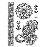 1pc Black Henna Temporary Tattoo Blooming Flower Woman Body Art Tattoo Sticker BJ002A