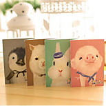 New Cute Cartoon Animal Car Line Notebook Small Paper Notebook(Random Colors)