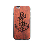 Para Funda iPhone 6 / Funda iPhone 6 Plus Ultrafina / En Relieve / Diseños / Other Funda Cubierta Trasera Funda Ancla Dura Madera Apple