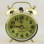 High-Grade Creative 4 Inches Large Metal Bell Ring The Alarm Clock Ultra-Quiet Noctilucent Lamp