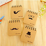 Manufacturers Supply Korean Stationery Bronzing Black Beard Coil Notebook Portable Little Book