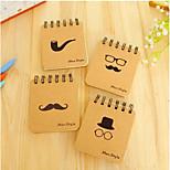 Manufacturers Supply Korean Stationery Bronzing Black Beard Coil Notebook Portable Little Book