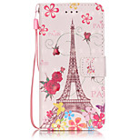 3D Painted Tower Pattern PU Material Phone Case for iPhone iPhone 5/5S/5E/6/6S/6S Plus/6 Plus
