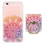 Voor iPhone 6 hoesje / iPhone 6 Plus hoesje Ringhouder / Ultradun / Doorzichtig hoesje Achterkantje hoesje Bloem Zacht TPU AppleiPhone 6s