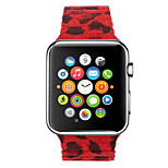 The New Leopard Camouflage Pattern Cortical Back to Buckle Watchbands For Apple Watch 42mm 38mm