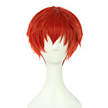 Perruques de Cosplay Assassinat de classe Cosplay Rouge Court Anime Perruques de Cosplay 20 CM Fibre synthétique Masculin