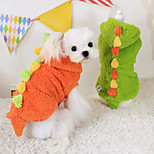 Dog Costume Red / Green Winter Halloween Cosplay / Keep Warm, Dog Clothes / Dog Clothing