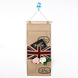 Three Pockets British Flag DoorJute StorageBag