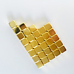 50pcs 5*5*5mm Square Golden Magic Magnetic Square Cube Magnetic Neo Cube Toy