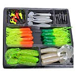 Fishing Lures Bait Tackle Soft Small Jig Box Set Simulation