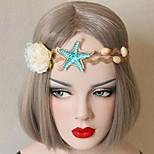 Sandy Beach Starfish Shell Flower Hair Ribbon Garland Photography Tour Fd-71