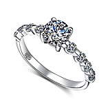 Fashion Simple 925 Sterling Silver Engagement Rings Cubic Zirconia Rings for Woman Jewelry