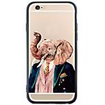 Per Custodia iPhone 6 / Custodia iPhone 6 Plus A prova di sporco / Fantasia/disegno Custodia Custodia posteriore Custodia Con elefante