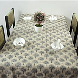 New Pastoral Cotton Lace Table Cloth Side Table Tablecloths with Tree Pattern (140 * 140cm)