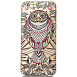 3D Relief Feel Owl Pattern TPU Material Phone Shell for iPhone 5 SE 5S 6 6S 6Plus 6S Plus