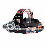 Lykte stropper LED 4.0 Modus 9000LM Lumens Oppladbar / Kompaktstørrelse Cree XM-L T6 18650Camping/Vandring/Grotte Udforskning / Sykling /