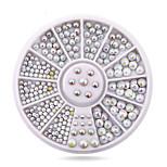 Mix Sizes Semi-circle Flatback Glitter Nail Rhinestone Studs Wheel Set Hot DIY Nail Sticker Decoration