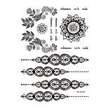 1 Tatuajes Adhesivos Series de Joya Non Toxic / Modelo / Waterproof / Alheña / BodaMujer / Adulto flash de tatuaje Los tatuajes temporales