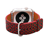 Red / Green / Blue Genuine Leather Snakeskin  Leather Loop For Apple Watch 38/42mm