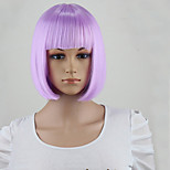 Purple wig Fashion Lolita Women' Party Short Gray Cosplay Synthetic Hair Heat Resistant Wig