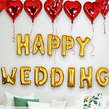 Birthday Christmas Party Wedding Ceremony Arranged Marriage Room Decorated Wedding Supplies Aluminum Letters