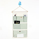 Six Pockets Behind The Door Home Furnishing With Tissue Box Storage Bag