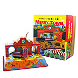 Novelty Toy  Pretend Play  Puzzle Toy  Wind-up Toy Novelty Toy  Square  Bus Metal Orange For Kids