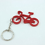 Bicycle Style Keyring & Bottle Opener,Aluminium Alloy 10×4×0.2 CM(4.0×1.6×0.1 INCH) Random Color