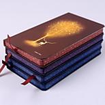Luminous Tree Hardcover Hard Copy High-end Notebook 48K (Random Colors)