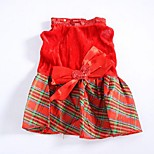 Classic Red Lattice Pattern Pet Dress