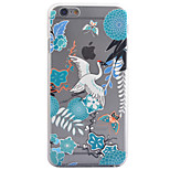 3D Relief Feel Colour Red-Crowned Crane Pattern PC Material Phone Shell for iPhone 5 SE 5S 6 6S 6Plus 6S Plus