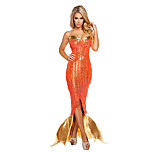 Costumes Mermaid Tail Halloween / Christmas / Carnival / New Year Golden / Orange Vintage Terylene Dress