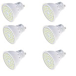 3 GU10 Focos LED MR16 48 SMD 2835 250 lm Blanco Cálido / Blanco Fresco Decorativa AC 100-240 V 6 piezas