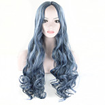 Soft Degre Hair Sexy Fashion Long Wave Lady's Synthetic Hair Wig Full Lace Cosplay Wig FreeGift Wig Cup