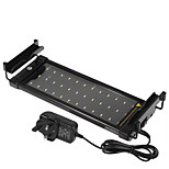 11 Inches(30cm) LED Aquarium Light AC 100-240V Blue and White Extendable Bracket LED Fish Lamp UK Plug