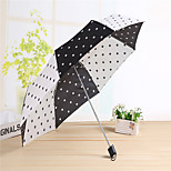 Umbrella 8K Flower Short Handle Three Mini Umbrella