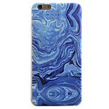 Smooth Handling Marbling Pattern TPU Transparent Edging Creative Arts Phone Case for iPhone 5 5S SE 6 6S 6S Plus 6S Plus