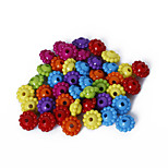 Beadia Assorted Color Acrylic Beads 6x9mm Daimond Plastic Spacer Loose Beads(50g/approx 250pcs)