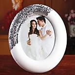 Continental White Plastic Frame Retro Plating Photo Frame