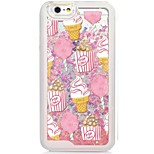 Ice Cream Back Flowing Quicksand Liquid/Printing Pattern PC Hard Case Cover For iPhone 6s Plus/6 Plus/6s/6/SE/5s/5
