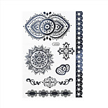 1pc Black Henna Tattoo Heart Sunflower Pendant Woman Body Art Temporary Tattoo Sticker BJ006