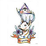 1pc Beauty Deer Maple Leaf Eye Rose Flower Arm Tattoo Temporary for Women Body Art Tattoo Sticker HB-078